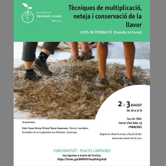 """Curs de """"Tècniques de multiplicació, neteja i conservació de la llavor"""""""